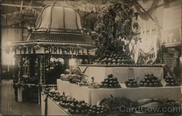 1906 Portville Fruit and Vegetable Stand Porterville California
