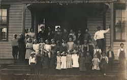 Group of School Children, Lake Co. Postcard
