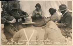Indians Favorite Pastime - Fort Bidwell Fair, 1922 Postcard