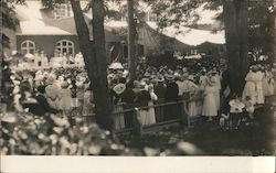 People Gathering for a musical event Postcard