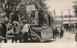Court Cristororo Colombo Foresters of America Parade Float Postcard