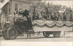 Grass Valley Parade Float Truck, July 4, 1907 Postcard