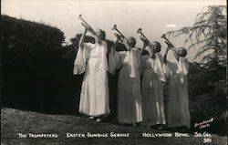 The Trumpeters - Easter Sunrise Service - Hollywood Bowl Postcard