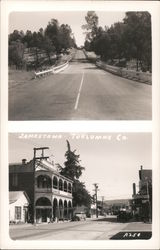 Highway in Tuolumne County and National Hotel Postcard