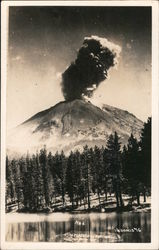 Mt. Lassen Eruption Postcard