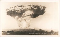 Eruption of Lassen Peak - May 1915 Postcard
