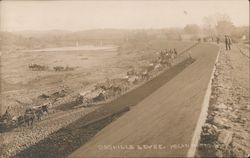 View of Levee Oroville, CA Hogan Photo Postcard