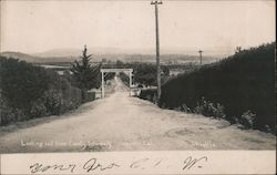 Looking out from County Infirmary Oroville, CA Postcard