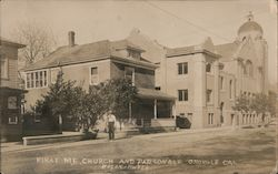 First Methodist Episcopal Church and Parsonage Postcard
