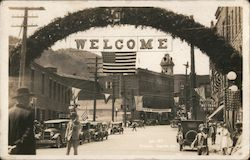 1920's Welcome Arch, Main Street Placer Mining Convention