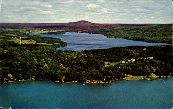 Air View Of Oakland House And Family Cottages Sargentville Maine