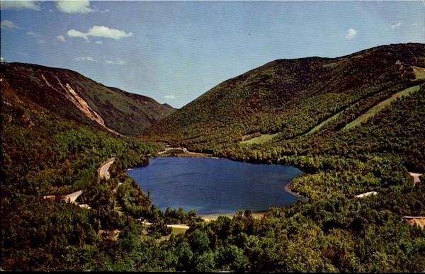 City Of Lafayette >> Echo Lake From Artists Bluff Franconia Notch, NH