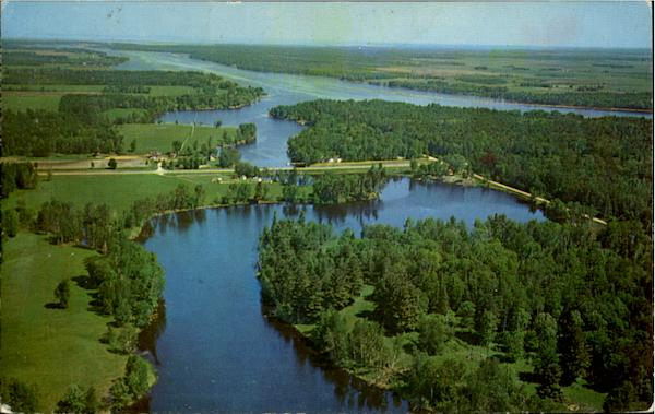 Aerial View Of Wabanica Beauty Spot Baudette Minnesota