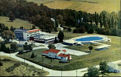 Mountain View Hotel Swimming Pool Postcard