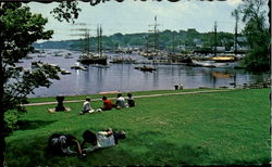 Picturesque Little Harbor As Seen From Town Park Postcard