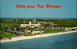 Hello From Key Biscayne Postcard