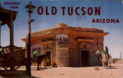 Greetings From Old Tucson Postcard