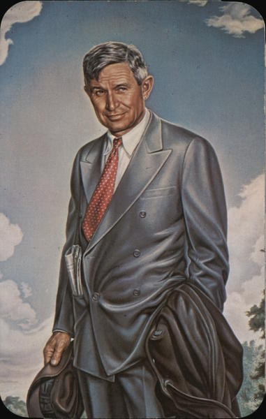 Portrait of Will Rogers - Ambassador of Goodwill Oklahoma