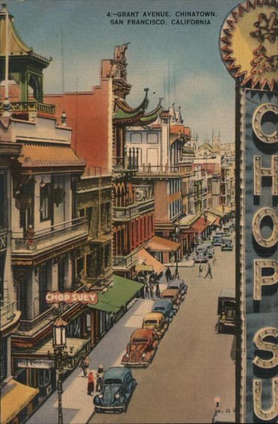 4: Grant Avenue, Chinatown, San Francisco California