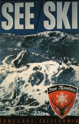 June Mountain Ski Area Postcard
