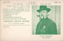 KFC2100 12Q0843 KBP968 Emergency Service Anytime U.S. Security Patrol Curt Heisner (The Rebel) Postcard