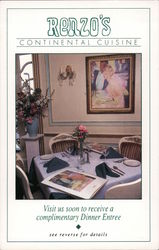 Renzo's Continental Cuisine - Visit us soon to receive a complimentary dinner entree Campbell, CA Postcard