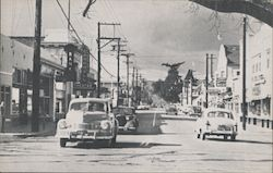 Looking west on Campbell Avenue in the early 1950s California Postcard