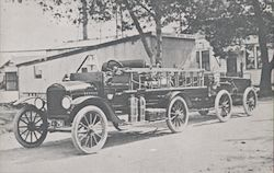 Modern Fire Equipment in the Early Teens Campbell, CA Postcard