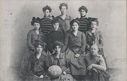Campbell Union High School Girls Basketball Team - 1903 California Postcard