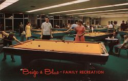 Beige & Blue Billiard Center Postcard