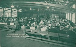A conference session at Mount Hermon, California Postcard