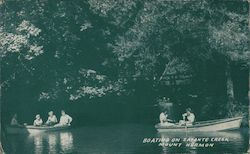 Boating on Zayante Creek Mount Hermon, CA Postcard