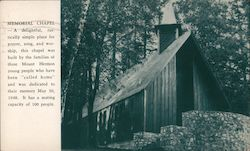 Memorial Chapel Mount Hermon, CA Postcard