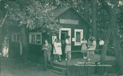 Mail time at Mount Hermon brings young and old to the post office for that word from home California Postcard
