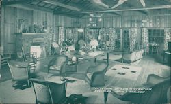 Interior of Administration Building Mount Hermon, CA Postcard