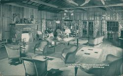 Interior of Administration Building, Mount Hermon California Postcard