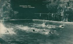 The Swimming Pool in Mount Hermon Park California Postcard