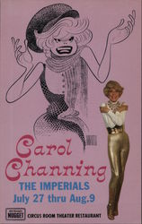 Carol Channing The Imperials July 27 thru Aug. 9 John Ascuaga's Nugget Circus Room Theater Restauarant Postcard