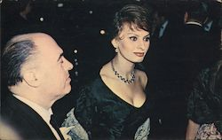 Sophia Loren and Husband Carlo Ponti Arrive at the glamourous Hollywood Premier. Postcard