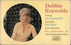 Debbie Reynolds Featuring The Unusual We special guest Rip Taylor staged by Ron Leis Postcard
