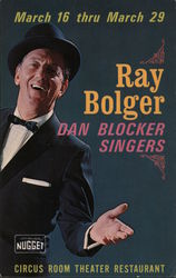 Ray Bolger and the Dan Blocker Singers Postcard