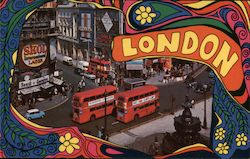 London Piccadilly Circus - Psychedelic Hippie Style