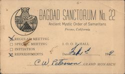 Bagdad Sanctorum No. 22 Ancient Mystic Order of Samaritans