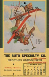 The Auto Specialty Co. Postcard