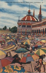 Casino and Parasols at the Beach
