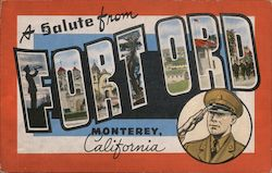 A Salute from Fort Ord Postcard