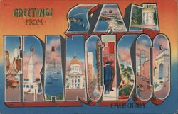 Greetings From San Francisco California Postcard