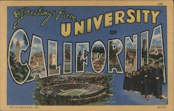 Greetings from University of California Postcard