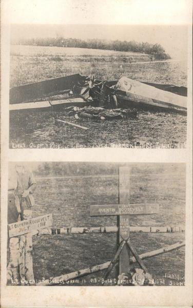 WWI Plane crash with dead Lt. Quentin Roosevelt and Cross