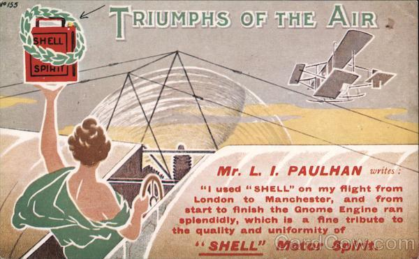 Shell Spirit--Triumphs of the Air (Reproduction) Airline Advertising